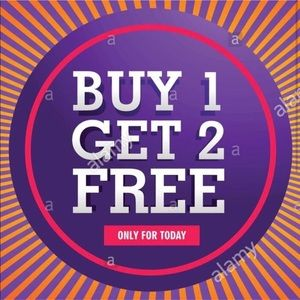 SALE! Buy one get TWO FREE!